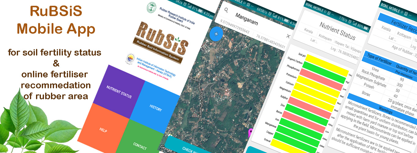 Rubber Soil Information System - Mobile App